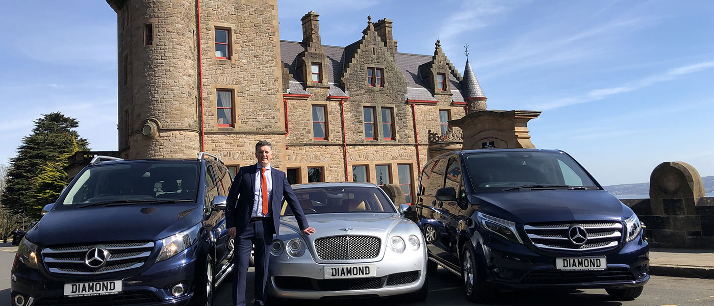 Diamond Chauffeurs Ireland at Belfast Castle, Northern Ireland