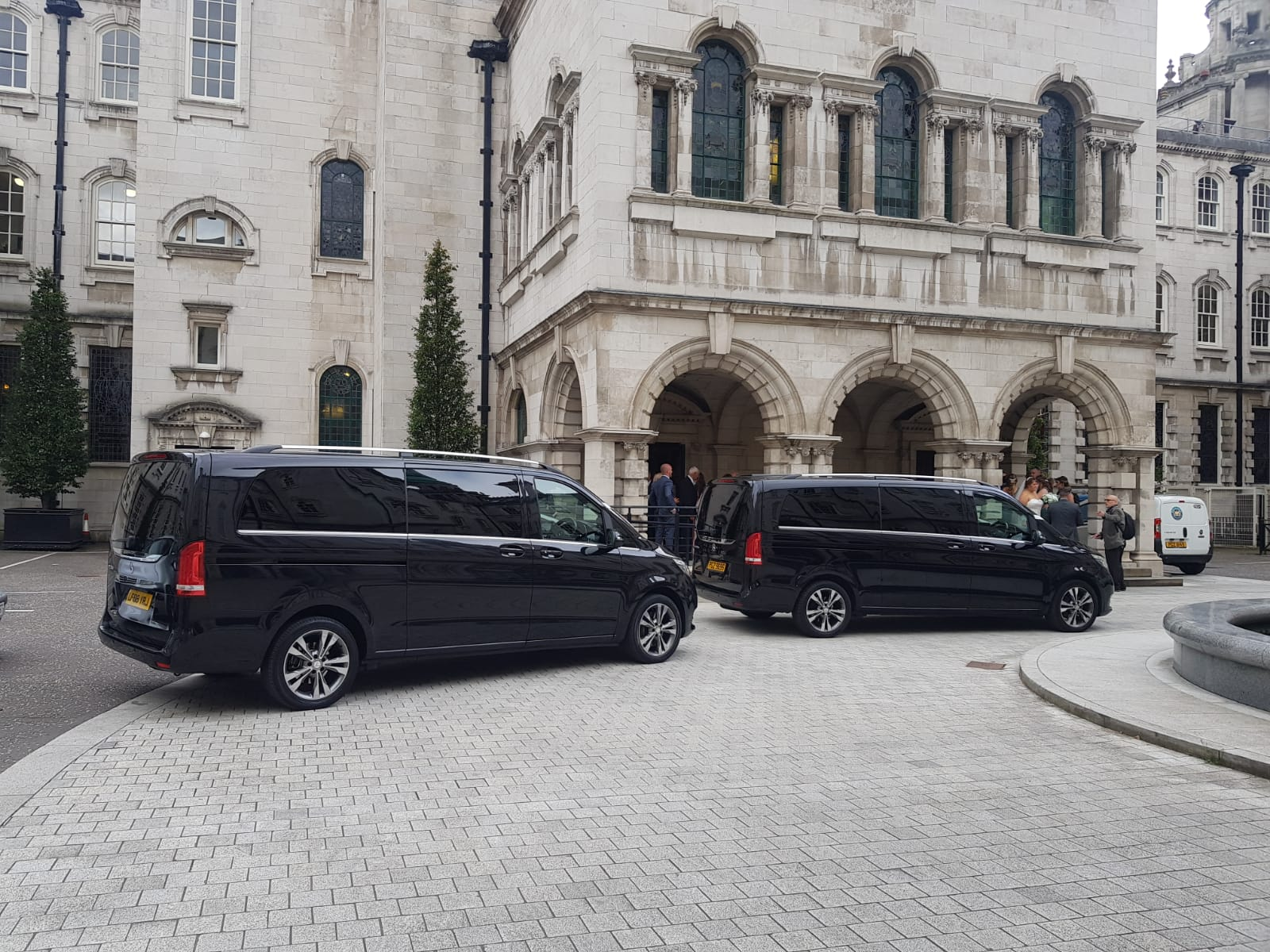wedding chauffeur services at Belfast City Hall